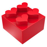 Toy block with hearts Royalty Free Stock Photos