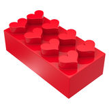 Toy block with hearts Royalty Free Stock Images