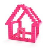 Toy block house Stock Image