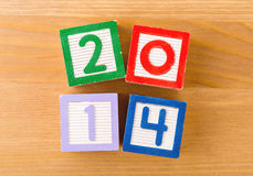Toy block for 2014 Royalty Free Stock Photo