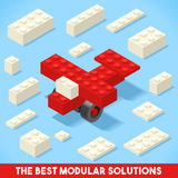 Toy Block Plane Games Isometric Stockfoto