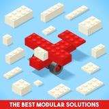 Toy Block Plane Games Isometric Stock Photo