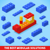 Toy Block Ship Games Isometric Royalty-vrije Stock Afbeelding