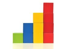 Toy block stairs Royalty Free Stock Photography