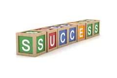 Toy Block with Success Word Royalty Free Stock Photography