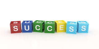 Toy Block with Success Word Royalty Free Stock Images