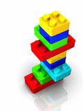 Toy blocks. Colorful toy blocks  on white backround - 3d render Stock Images