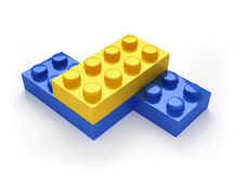 Toy blocks. This is a 3d render illustration Royalty Free Stock Photography