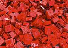 Toy blocks. 3D render of red toy blocks, easy to colorize Royalty Free Stock Photos
