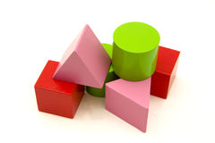 Toy blocks. In great colors isolated on white stock photo
