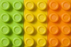 Toy blocks background. Still life photography Stock Image