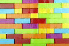 Toy blocks background Stock Image