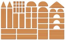 Toy Blocks Collection Set di legno Fotografie Stock Libere da Diritti