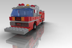 Toy Blocks Fire Truck Stock Photos