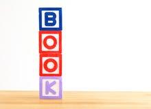 Toy Blocks-Form BUCH Lizenzfreie Stockbilder