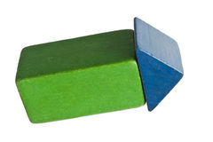 Toy blocks forming an arrow Stock Image