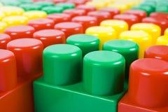 Toy Blocks, Mehrfarbenbaustein-Elemente als Hintergrund Stockfotografie