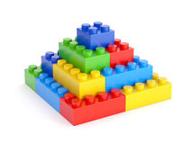 Toy blocks pyramid Stock Images