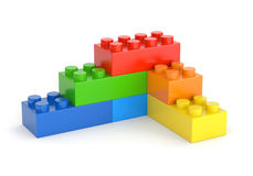 Toy blocks wall Stock Photography