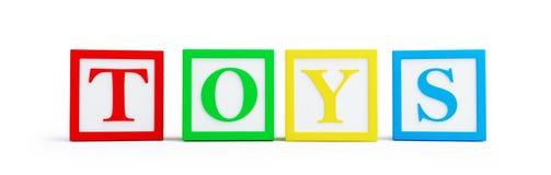 Toy blocks on white background. Royalty Free Stock Photo