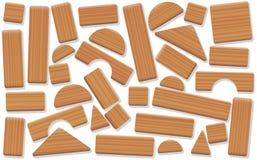 Toy Blocks Wooden Building Items lâchement disposé illustration stock
