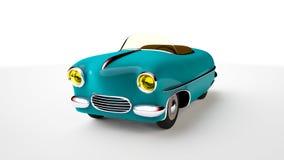 Toy blue car. 3D render Stock Images