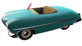 Toy blue car. 3D render Royalty Free Stock Image
