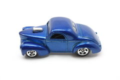 Toy Blue Drag Racing Car Royalty Free Stock Photo