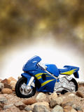 Toy Blue Motorcycle royalty free stock photography