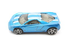 Toy Blue Racing Car Royalty Free Stock Photos