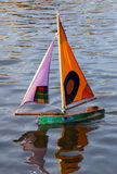 Toy boat. Small toy boat in water Royalty Free Stock Images
