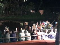 Toy boat competetion held in goa. Toy Boats are made  and bring into the competetion during tripurali pournima in goa vitthalapoor royalty free stock photos