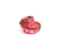 Toy boat. Little red toy boat for water games Royalty Free Stock Photography
