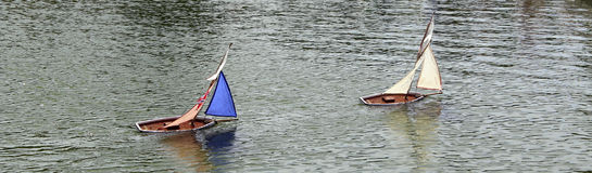 Toy boats. royalty free stock images