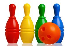 Toy bowling Royalty Free Stock Image