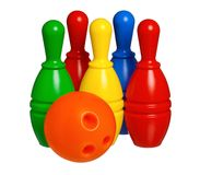 Toy bowling Royalty Free Stock Photography