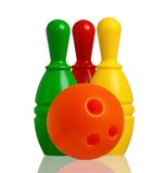 Toy bowling Royalty Free Stock Photos