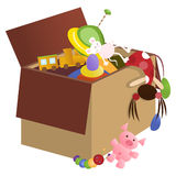 Toy box. Vector illustration: toys in the box Royalty Free Stock Photo