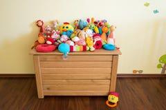 Toy Box full of soft toys Royalty Free Stock Photo