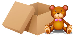 A toy and a box. Illustration of a toy and a box on a white background Royalty Free Stock Image
