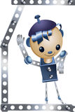 Toy boy iron robot character cartoon style  illustration Royalty Free Stock Photos