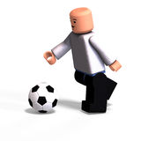 Toy Boy plays soccer Royalty Free Stock Photo