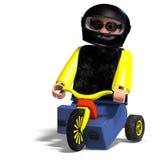 Toy Boy Rides His Bike Stock Photo