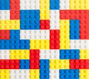 Toy Brick Background stock afbeeldingen