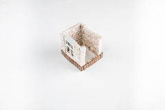 Toy brick house Royalty Free Stock Images
