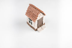 Toy brick house Stock Images