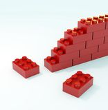 Toy brick wall Stock Photo