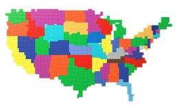 Toy Bricks American Map Royalty Free Stock Photos