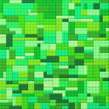 Toy bricks color background - green Stock Images