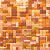 Toy bricks color background - orange and brown Royalty Free Stock Photography